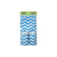 Chevron Party Pack 8 - Royal Blue