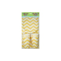 Chevron Party Pk for 8 - Yellow