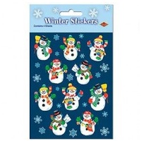 Christmas Snowman Stickers