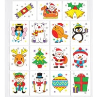 Christmas Temporary Tattoos - Each