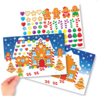 Gingerbread House Sticker Scene Kit
