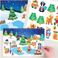 Winter Woodland Sticker Scene Kit - 4 pack