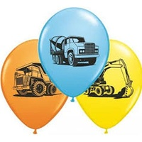 Construction Balloons 8pk
