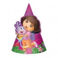 Dora Party Hat - 8 Pack