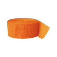 Crepe Streamer Orange 3.5cm x 25m