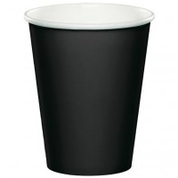 266ml Paper Cup Black - 8 pkt