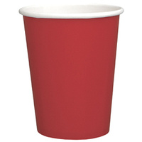 266ml Paper Cup Red - 8pkt