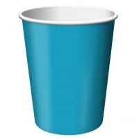 266ml Paper Cup Turquoise - 24pkt