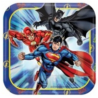 Justice League Lunch Plates - 8pkt