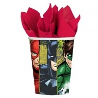 Justice League Paper Cups - 8 pkt