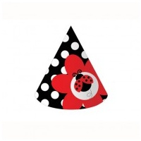 Lady Bug Party Hat - 8 Pack