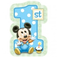 Mickey Mouse 1st Invites - 8pkt