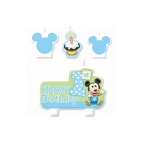 Mickey Mouse 1st Moulded Candle Set - 4pce