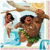 Moana Lunch Napkins - Pack of 16