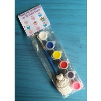 Party Favor Plaster Craft and Paint Set - Cupcake