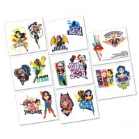 Super Hero Girl Tattoo - 8 Pkt