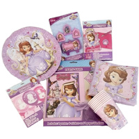 "Sofia the 1st ""Starter"" Party Decoration Pack for 8"